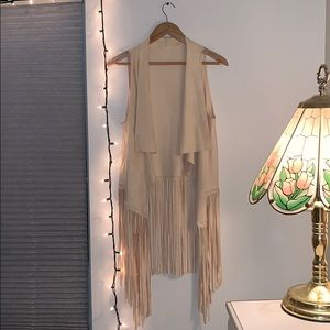 Sweaters - Tan Tassel Cover Up